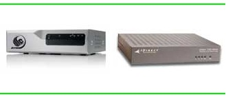 Newtec and iDirect satellite internet routers