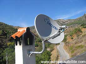 Gilat satellite broadband attached to chimney