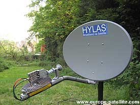 Hylas Ka band satellite dish