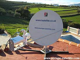 LinkStar satellite internet terminal: Flat roof mount