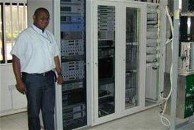 VSAT hub equipment racks in Abuja, Nigeria