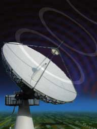 9m Ku band dish at Global Teleports (UK) satellite internet service hub