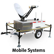 Trailer mounted satellite internet terminal