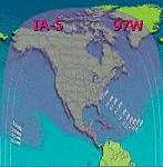 IA-5 satellite beam patterns