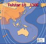 Telstar 18 satellite beam patterns