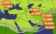Eutelsat W1 coverage