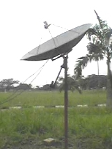 Polar mount satellite dish in Nigeria