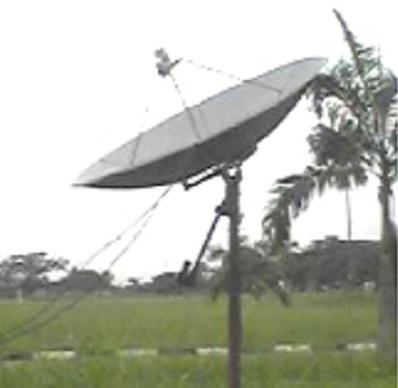 Axi-symmetric circular antenna reflector