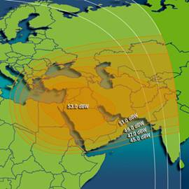 VSAT service in Intelsat 10-02 Ku band middle east spot beam