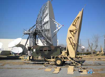 Teleport satellite dish and large transportable VSAT antenna
