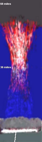 Dangerous 60 mile high lightning flash