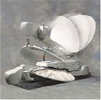 Mobile VSAT dish deployable antenna
