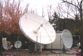 Netdish satellite earth station VSAT hub, Italy