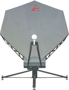 Portable flyaway 2.4m satellite antenna