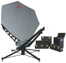 Portable 2.4m satellite antenna with transportable packing cases