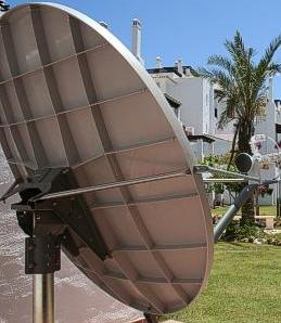 Correcting satellite dish distortion