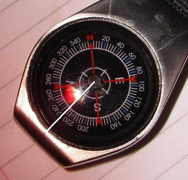 Using a magnetic compass