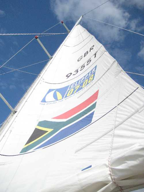 Mainsail trim on Clipper Durban
