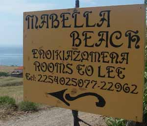 Mabella Beach. Rooms to let