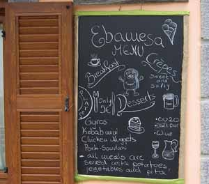 Ebawesa Menu in Plati square