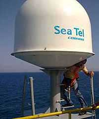 Marine SeaTel Ku-Band Installation