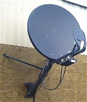 Wildblue type dish installed by satellite internet installer in Manitoba, Canada