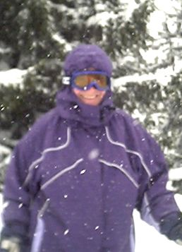 Chris in the snow at Zell-am-See