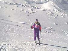 Eric skiing