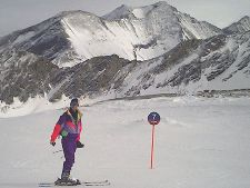 Eric skiing on the glacier