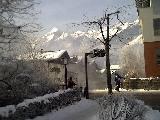 Ski bus stop in Kaprun