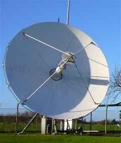 Large teleport hub satellite dish