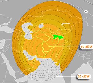 SESAT-2 coverage - satellite internet in Tajikistan