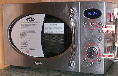 Picture Of Breville Microwave With The Time Setting Controls Highlighted