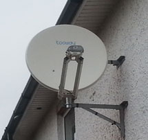 Tooway dish installation in UK