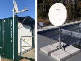 2 Twoway satellite dish installations