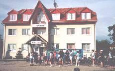 Hotel Panorama at Tiszaors Furdo, bath via gate opposite
