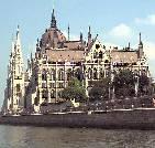 Parliament building, Budapest, alongside Danube river
