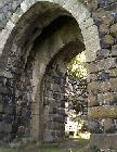 Gateway at the ruins of Ch?teau de Chapteuil.
