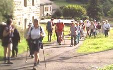Walking in France: setting off for walk near St Julien Chapteuil