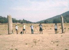 At the Col de Vaucanes - Menhir Dolman standing stones