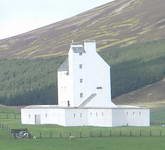 The prominant white Corgarff Castle, 15km north west of Ballater.