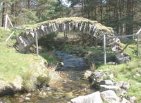 Small bridge on the old military road, where we had picnic lunch, as used on the walking holiday brochure cover.