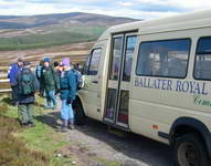 Setting off from the mini-bus on one of out hill walks, this time along old military road towards Corgarff Castle.