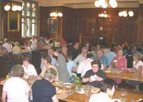 Mealtime in the dining hall